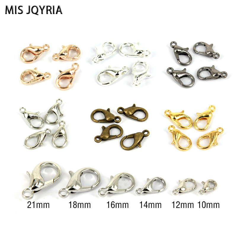 50pcs Alloy lobster Clasp Hooks For Necklace Bracelet Chain DIY Jewelry Makings