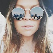 LeonLion 2021 Винтаж зеркальные солнечные очки с Для женщин/мужчин Брендовая Дизайнерская обувь очки леди круглый Роскошные солнцезащитные ретр...