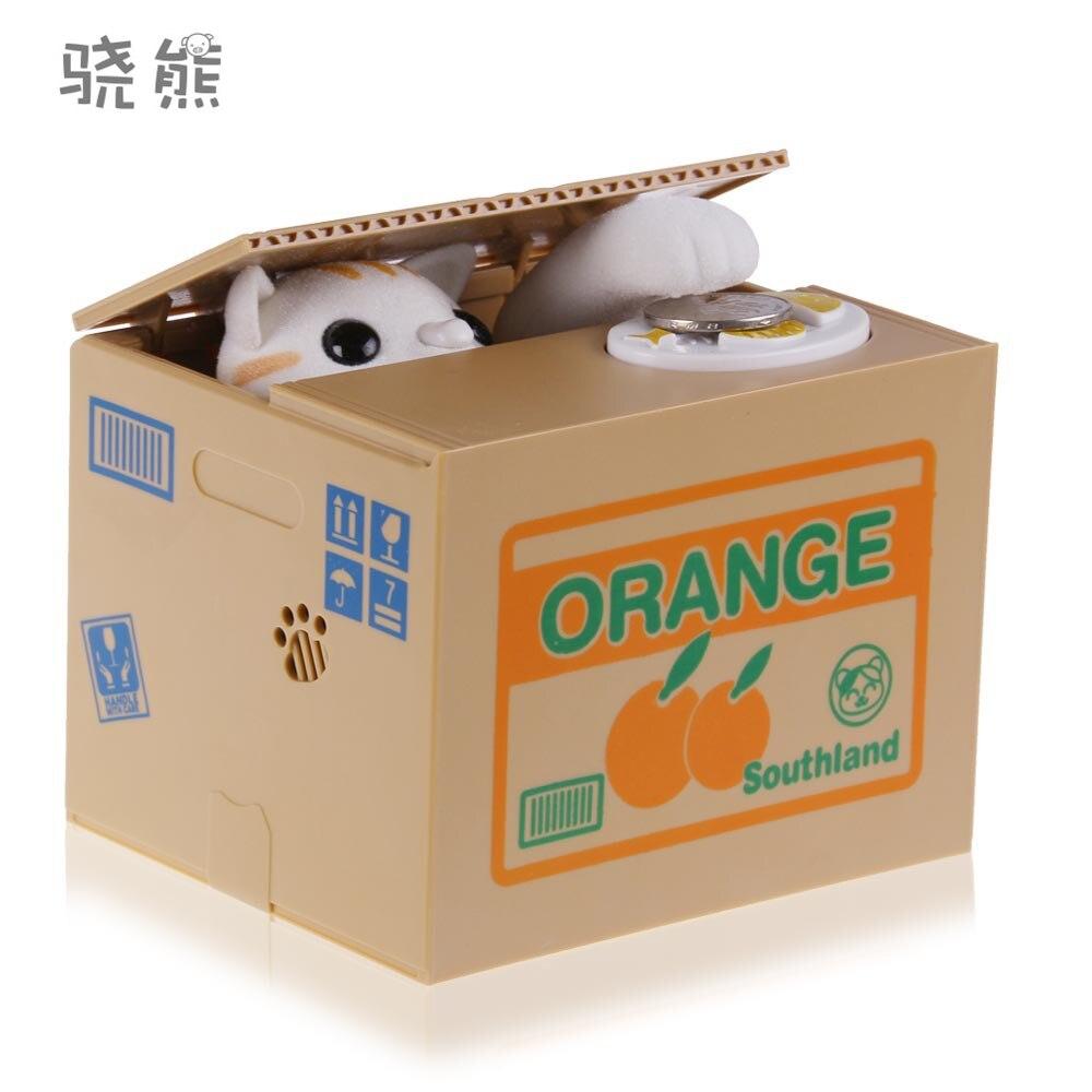 1 pcs Vente Chaude Chat Automatisé Volent Tirelire Tirelire tirelire Money Saving Box Cadeaux numérique pot de pièces de monnaie alcancia de gato