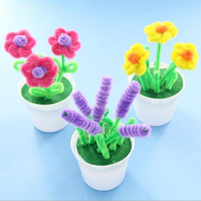1 Pc Kreative Weiche Schöne Diy Bunte Handgemachte Blumen Topf Puzzle Bildungs Dekorative Neuheit Spielzeug Lustige Spiel Geburtstag Geschenk