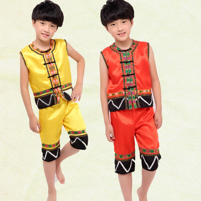 Classical Traditional Chinese Dance Costumes for Boys Miao