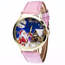 Children Girls Women Quartz Wristwatches Fashion Santa Claus Christmas Gift Dropshipping Dress Ladies Watch Dial Clock 5-