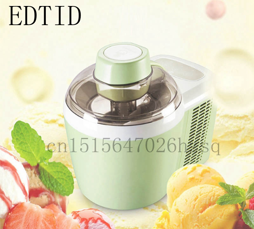 EDTID Full Automatic Ice-Cream Maker mini ice cream machine household intelligent 0.6L QT Capacity Frozen Yogurt Sorbet Maker edtid 12kgs 24h portable automatic ice maker household bullet round ice make machine for family bar coffee shop eu us uk plug