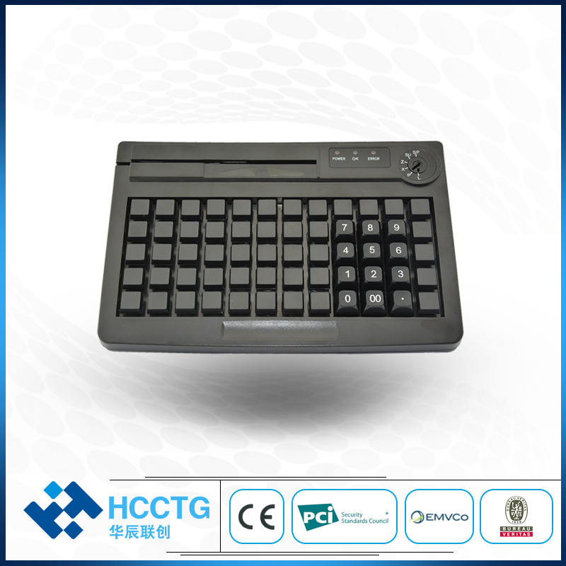 60 Key PS/2 Membrane Programmable POS Keyboard without Magnetic Card Reader KB60M цены