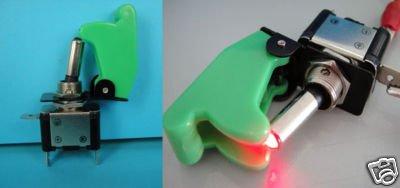 Военный стиль светодиодный тумблер+ Защитная крышка 10 шт