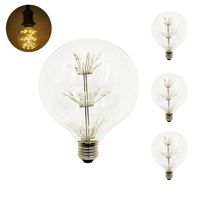 3w g125 decorative led lamps warm white 2200k vintage christmas light bulbs e26e27 medium