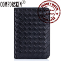 New Arrival Brand Genuine Leather Kinting  Style Credit Card Holders Sheepskin Passport Cover 4 Color Factory Price