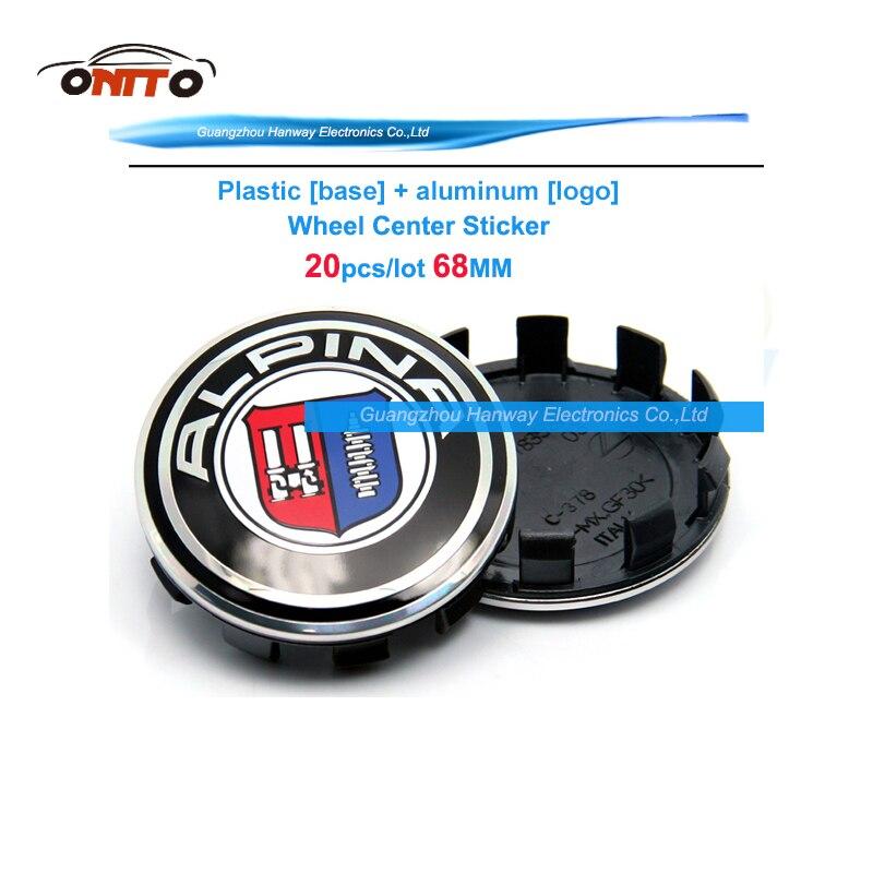 Prix pour Lot 20 pcs/lot Modifié Center De Roue De Voiture Hub Cap 68 MM Auto Logo Emblème roue Badge Pour E60 E90 F10 F30 F15 E63 E64 E65 E86