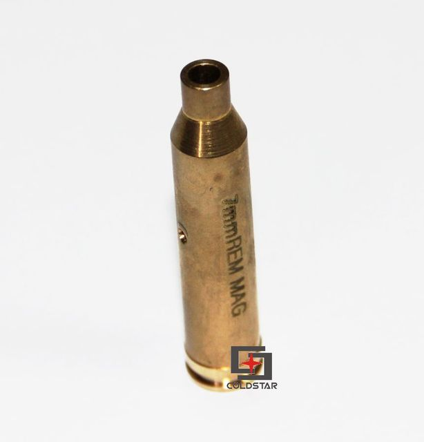 US $9 99  Top Copper Boresighter CAL 7mm REM MAG Laser Bore Sighter  Cartridge Bore Sight Brass Red Laser Boresight Hunting-in Lasers from  Sports &