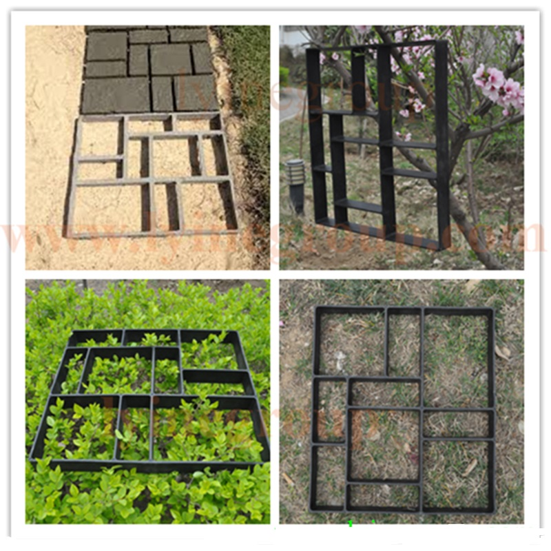 45cm BIG Garden DIY Plastic Path Maker Mold Road Paving Cement Mould Brick  Decor Path Stepping