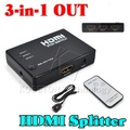 1080P HD 1 to 3 Port HDMI Switch Switcher Hub Splitter Hdmi Selector For PS3 Gaming For HDTV Video DVD + Infrared Remote Control
