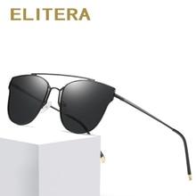 ELITERA  Brand Cat eye Women Sunglasses Polarized Female Sun Glasses For Men Eyewear Shades