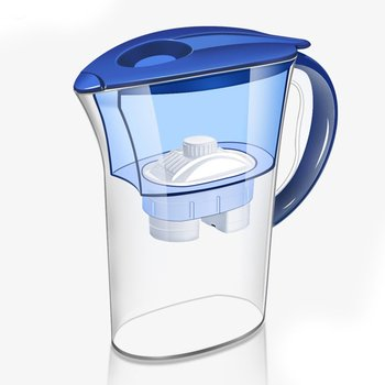 Water Filter Jug Kettle With Refill Filter Cartridge Activated Carbon Water Kettle Home Office Drinkware Purifier simple ceramic jug with handle cover 1 5l water kettle water jug juice pot home used office used suit for cold and boiling water