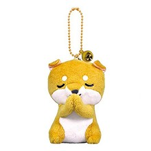 Cute Mini Plush Filled Toy Frog Panda Penguin Dolphin Akita Dog Keychain Bag Charm Charm Filled Plush Animal Toy Keychain-TOY161(China)