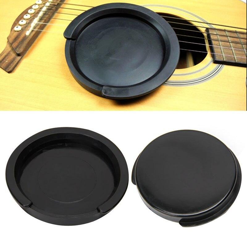 1Pc Screeching Halt Acoustic Guitar Sound Hole Cover Block Plug Rubber Black