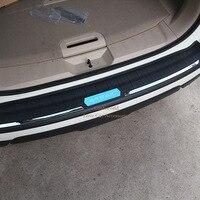For Nissan X Trail Rogue T32 2014 2015 2016 Rear Bumper Protector Tailgate Trunk Door Guard Trim X trail Plastic Car Accessories