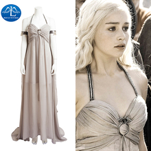 MANLUYUNXIAO Nuove Donne Grigio Sexy Game of Thrones Costume Daenerys  Targaryen Costume di Carnevale di Halloween Costume Cospla. af01246d5cc