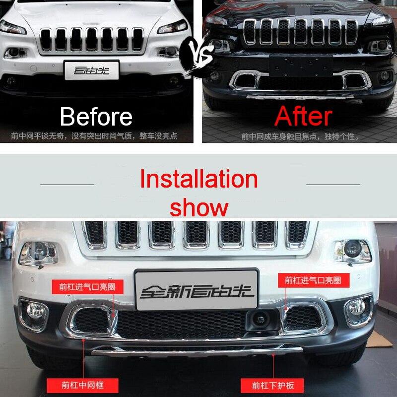1 шт. DIY автомобиля стиль Новый <b>ABS Chrome</b> под передней ...