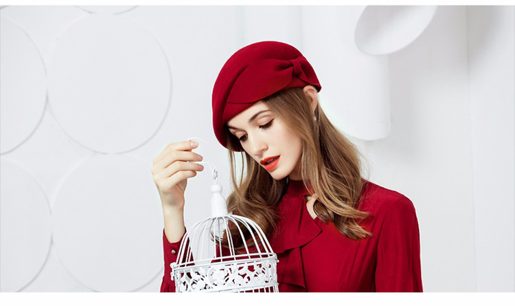 e80833689c113e Αγορά Γυναίκες ' s καπέλα | FS Ladies Red Wedding Hat For Women ...