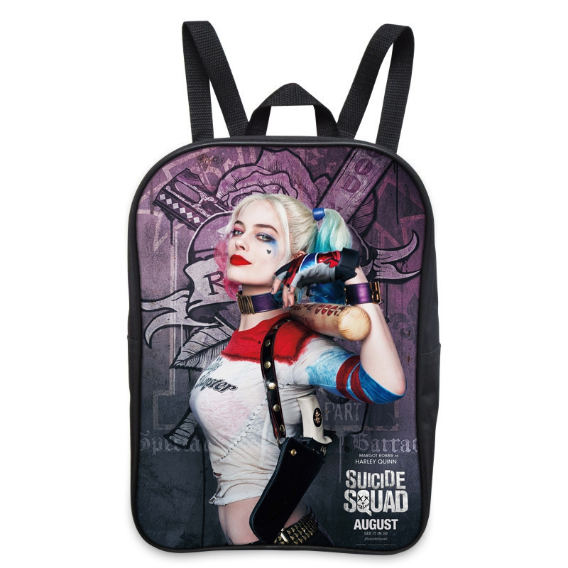 Suicide Squad Backpack For Teenager Children Harley Quinn Joker School Bags Mens Women Shoulder Bag Boys Girls School Backpacks suicide squad harley quinn harleen quinzel high quality pu short wallet purse with button