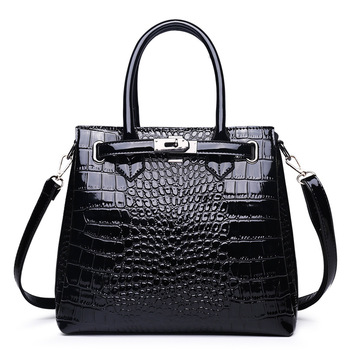 Famous Designer Brand Bags Women Leather alligator Handbags 2019 Luxury Ladies Hand Bags Purse Fashion Shoulder Bags Bolsa Sac