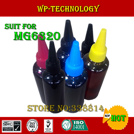 ФОТО Dye ink, Compatible ink specialized suit for Canon MG6320 ,suit for PGI250 CLI251 Series,Specialized High quality Ink, 6 Color