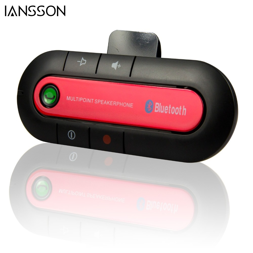 2016 High Quality Wireless Bluetooth Slim Magnetic Handsfree Car Kit Speaker Phone Visor Clip