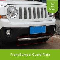 1 Pcs Chrome ABS Pare-chocs Avant Garde Plaque fit pour Jeep Patriot 2011 2012 2013 2014 2015