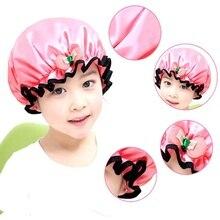 Girls Waterproof Shower Cap Cute Bow Elastic Shower Caps for Ladies Girl Hat Hair