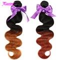 8А Ombre Бразильские Волосы Rosa Продукты Волосы Ombre 2 Тона Бразильские Объемная Волна, цветные Человеческих Волос 3 шт. Ombre Бразильский Weave Волос
