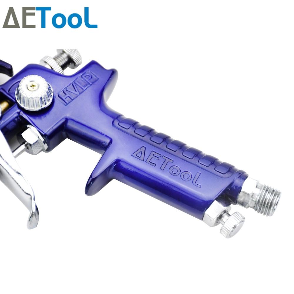 Image 5 - AETool 0.8/1.0mm Nozzle Professional HVLP Spray Guns Sprayer Paint Airbrush Mini Spray Gun for Painting Cars Aerograph Tool-in Spray Guns from Tools on