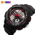 Skmei marca hombres reloj de cuarzo led digital hombres relojes deportivos relojes hombre militar ocasional de moda a prueba de agua para hombre relojes de pulsera