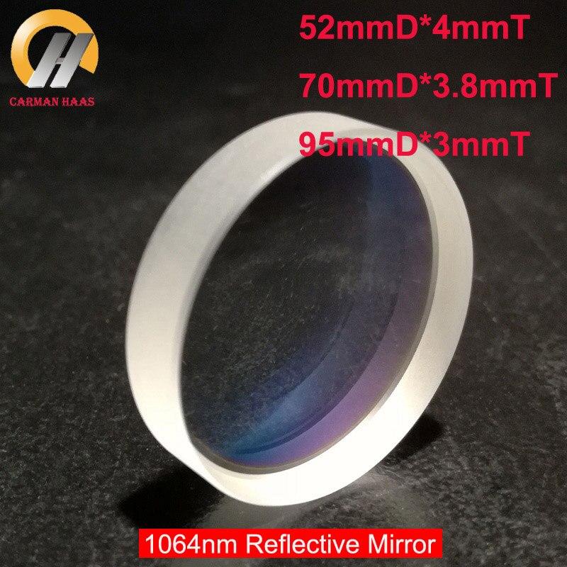 Carmanhaas Fiber YAG 1064nm Laser Reflection Mirror Reflective Lens Diameter 52mm/70mm/95mm sacndre10 digital galvanometer wavelength 1064nm yag laser module use xy2 100 protocol
