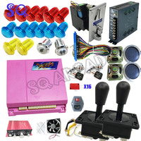 Arcade parts Bundles kit With 815 in 1 jamma Pandora Box 4S Joystick LED illuminated Buttons for Arcade Cabinet Machine 20%off