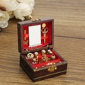 Hot Sale 1:12 Scale Cute Dollhouse Miniature Filled Wooden Jewelry Box Bedroom Toys Doll toys Kids Toys Gifts