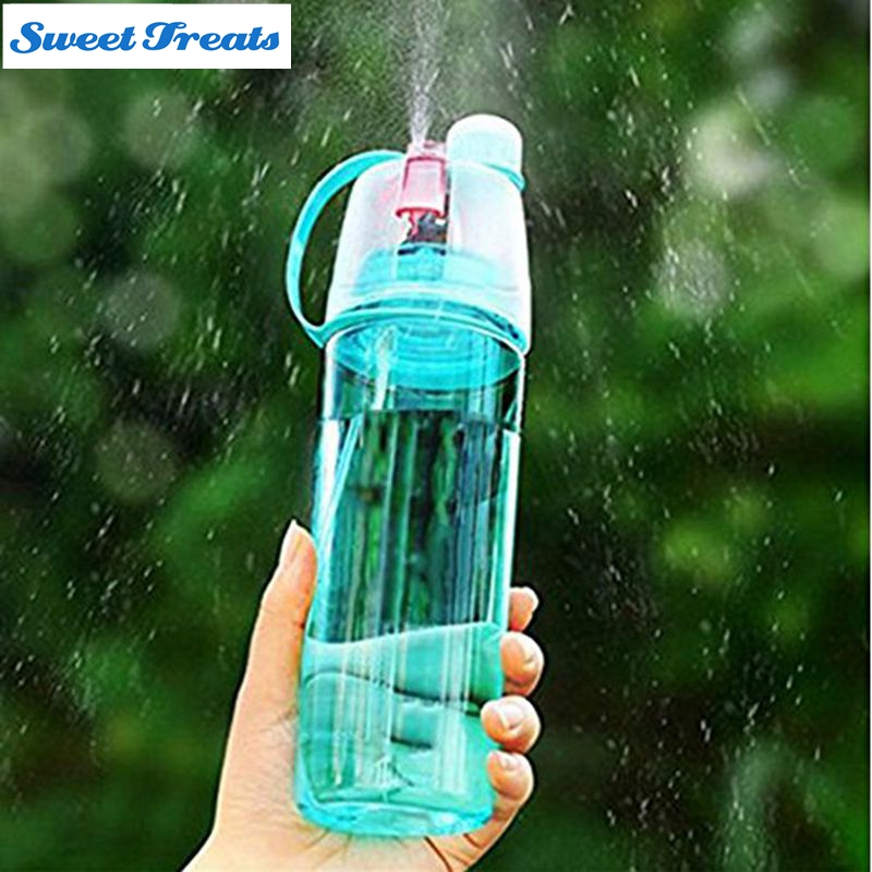 Sweettreats creative sports water bottle spray water for Creativity with plastic bottles