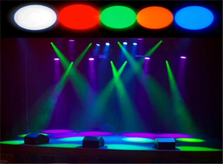 2pcs Mini Stage White Red Green Blue Yellow Color Disco