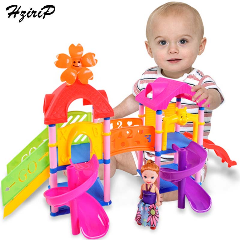 HziriP DIY Assembly Sets Model Toys Children Plastic Pretend Play Princess Doll Houses Building Blocks Education Toy Kids Gifts 32pcs set repair tools toy children builders plastic fancy party costume accessories set kids pretend play classic toys gift