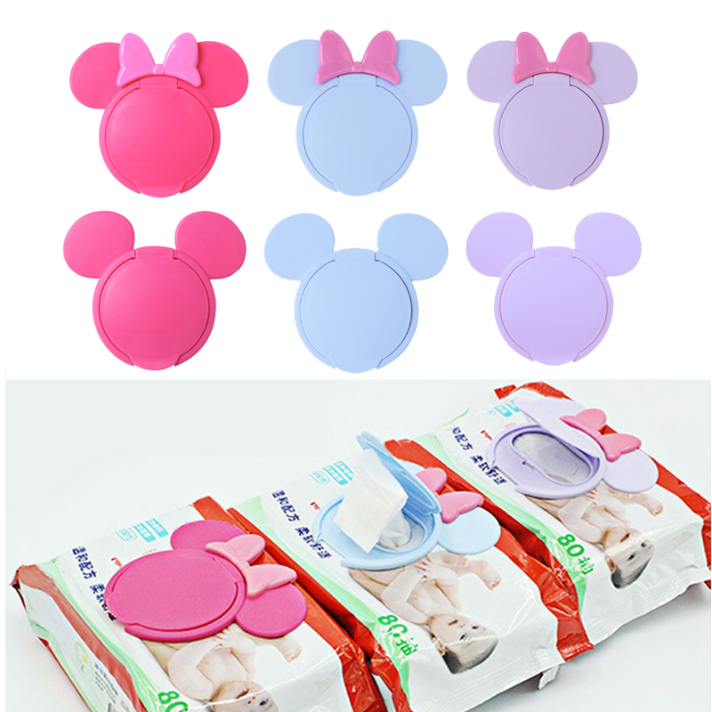 1PC Baby Wipes Cover Portable Reusable Cartoon Baby Wet Wipes Lid Child Wet Tissues Lid Useful Mobile Wipes Wet Paper Lid wet