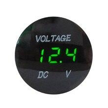 Hiyork Car Motorcycle DC 12V- 24V LED Panel Digital Voltage Meter Display Voltmeter Waterproof Gauge Meter For Auto Boat ATV UTV
