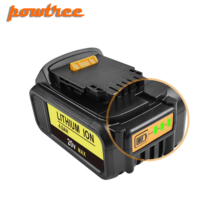 Powtree For DeWalt 20V 4.0Ah DCB200 MAX Rechargeable Power Tools Battery Replacement DCB181 DCB182 DCB204 DCB101 DCD996DCF885 L3 high quality 20v 4000mah power tools batteries for dewalt dcb181 dcb182 dcd780 dcd785 dcd795 charger usb power source