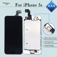 Mobymax Full Assembly LCD For IPhone 5S Ecran Pantalla Module Touch Glass Screen Digitizer Display Set
