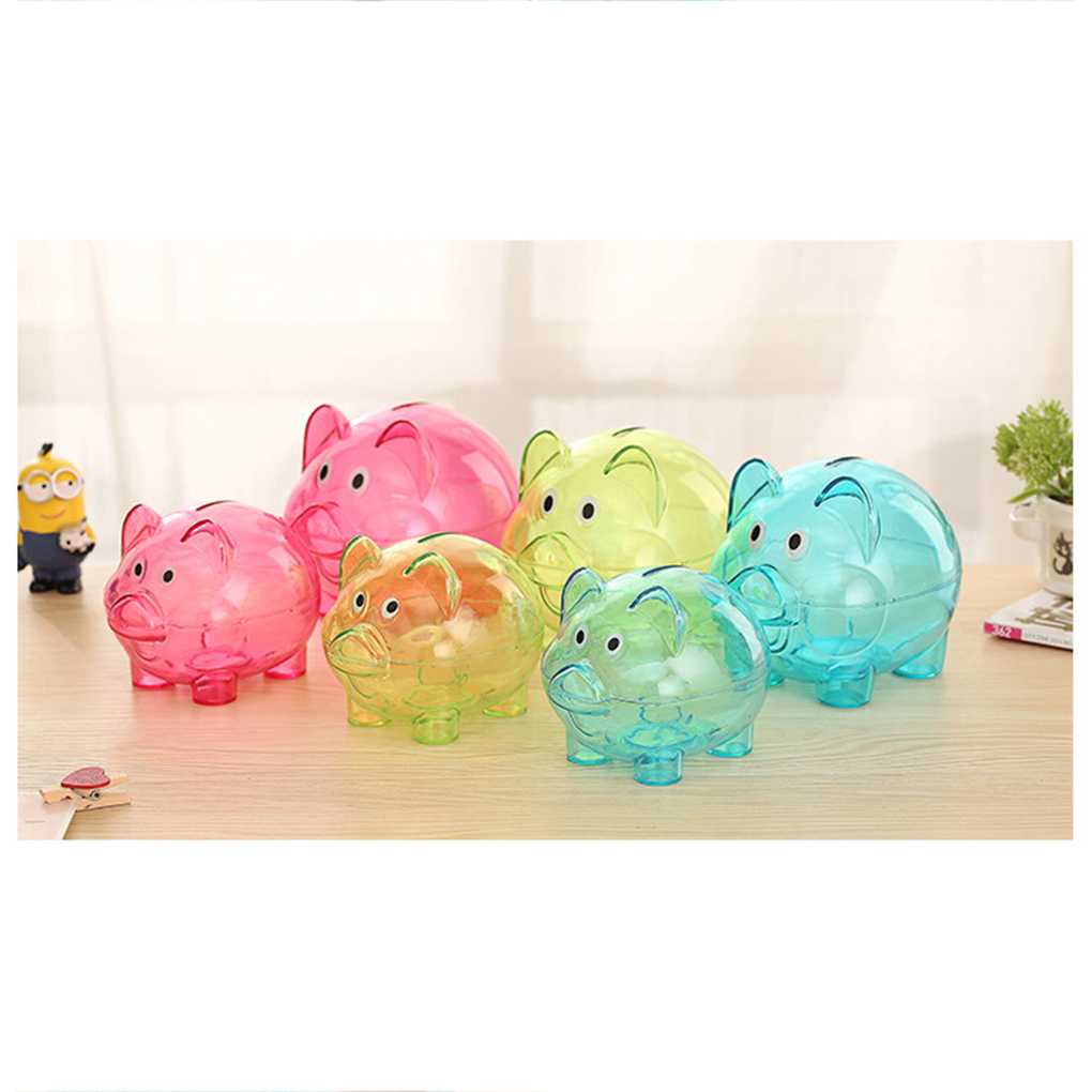 Bank Banks Children Clear Plastic Girls Large Boys Piggybanks Money Kids Small Co Piggy Pig Lovely Cartoon Piggy Bank Transparent Money Box Plastic Pvc Cute Pig Shape Child Birthday Gift Toys