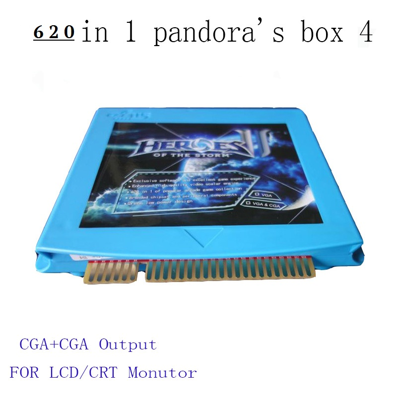 ФОТО 620 in 1 Heroes of the storm 2 VGA / CGA output for LCD / CRT jamma arcade cabinet machine game board 645 games multigame card