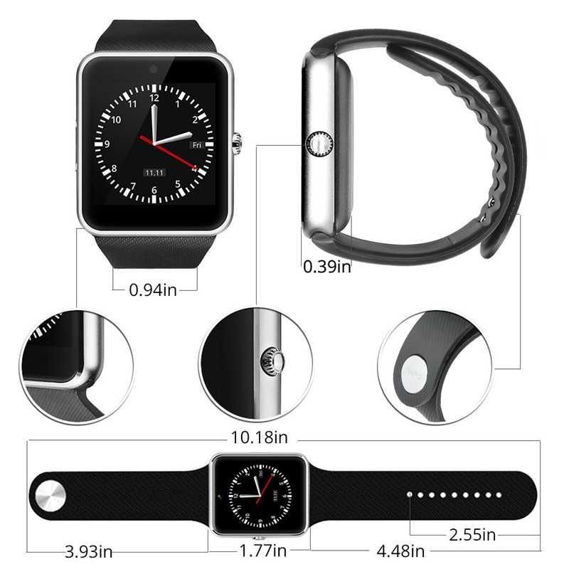Умные часы для мужчин GT08 с сенсорным экраном большой аккумулятор поддержка сим-карта TF камера для IOS iPhone Android телефон-часы для женщин