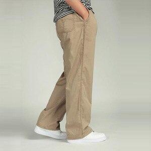 Image 3 - Bawełna mężczyźni joggersy cargo spodnie w pasie spodnie wojskowe moda męska luźne kombinezony na co dzień Plus rozmiar 3XL 4XL 5XL 6XL