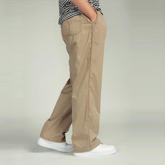 Pants Elastic Waist Military Trousers Men Fashion Loose Casual Overalls Plus Size 3XL 4XL 5XL 6XL