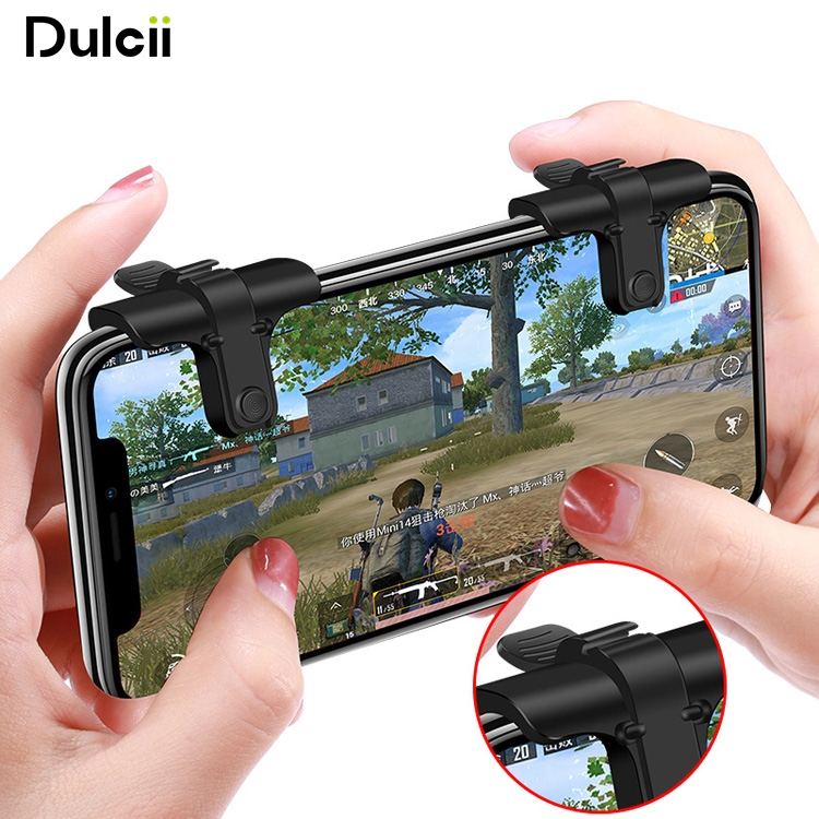 DULCII 1 Pair of Game Controllers Fire Aim Buttons Tool for PUBG STG FPS TPS etc. Shooting Games