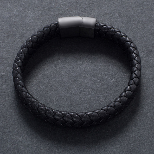 Fashion Male Jewelry Handmade Braided Leather Bracelet 1