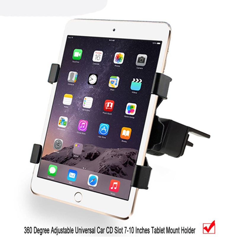 Tablet Car Holder for iPad 9.7 2017, Universal 7 8 9 10Car Auto CD Mount Tablet PC holder for iPad air 1 2 Tablet Car Holder